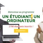 inscription au programme un étudiant un ordinateur