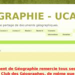 blog du département de géographie