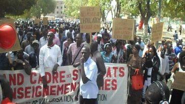 Reprise des cours-CUSEMS/Marche des Syndicats de L'Enseignement