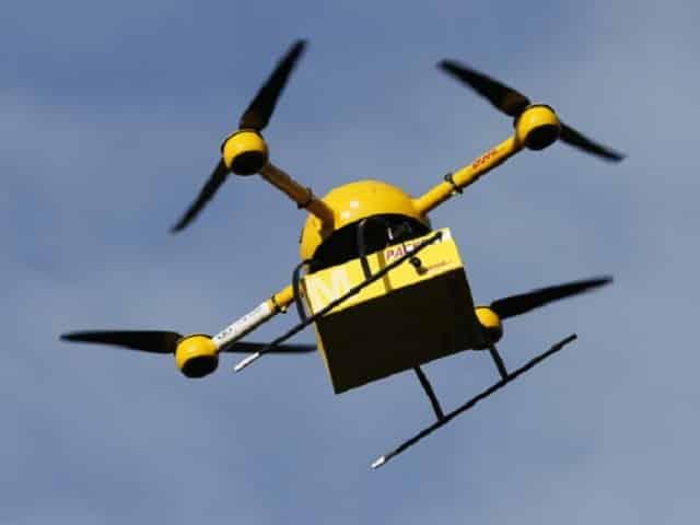 livreur est un drone