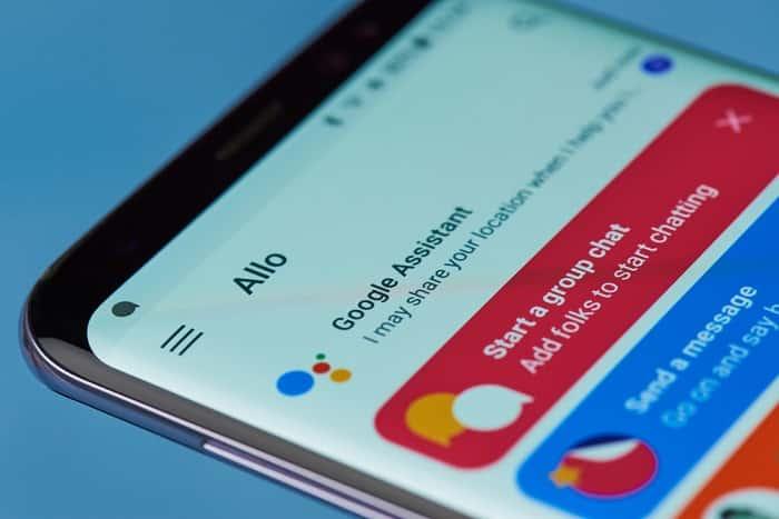bouton Google Assistant