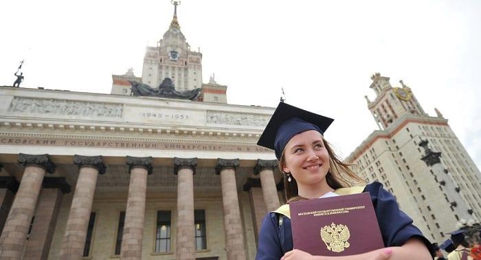 études supérieures en Russie