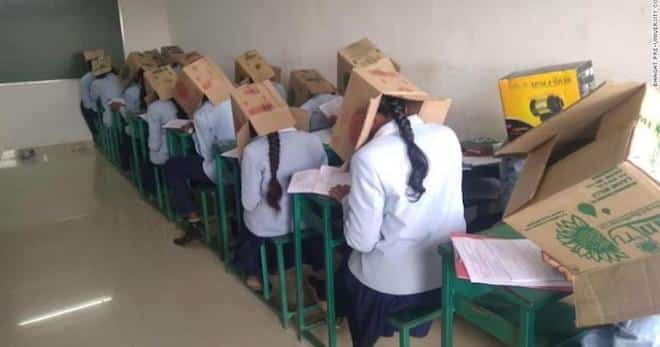 étudiants de tricher